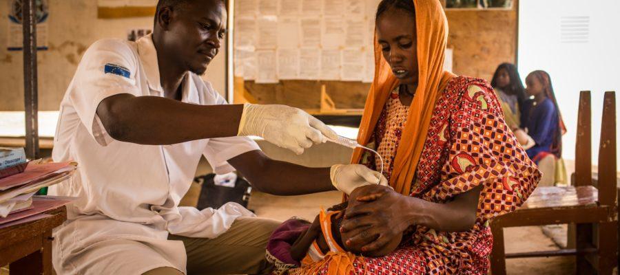 4 Juin 2018 - Mao, région du Kanem, Tchad. Unité nutritionnelle thérapeutique de traitement de la malnutrition sévère à l'hôpital de Mao.